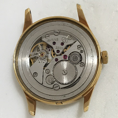 Мужские наручные часы Восток 18 камней СССР 2209 зеленые в позолоте
