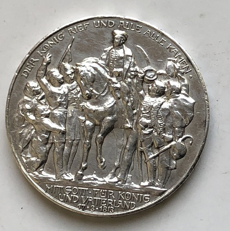Монета две марки Германия серебро