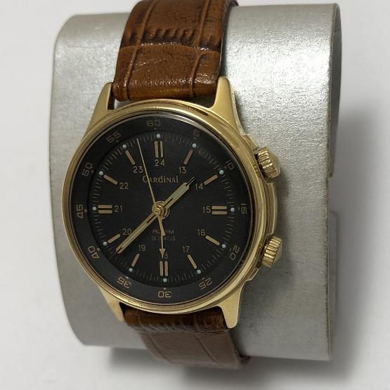 Мужские наручные часы Cardinal СССР будильник позолоченные