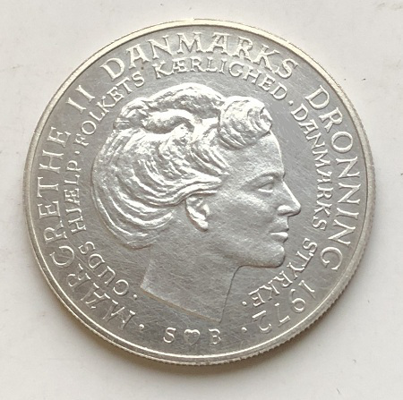 Старая монета Дании серебро