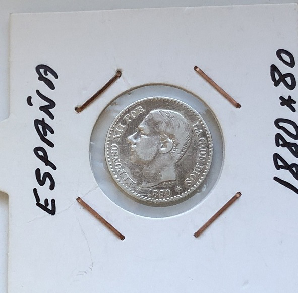 Старинная монета Испании