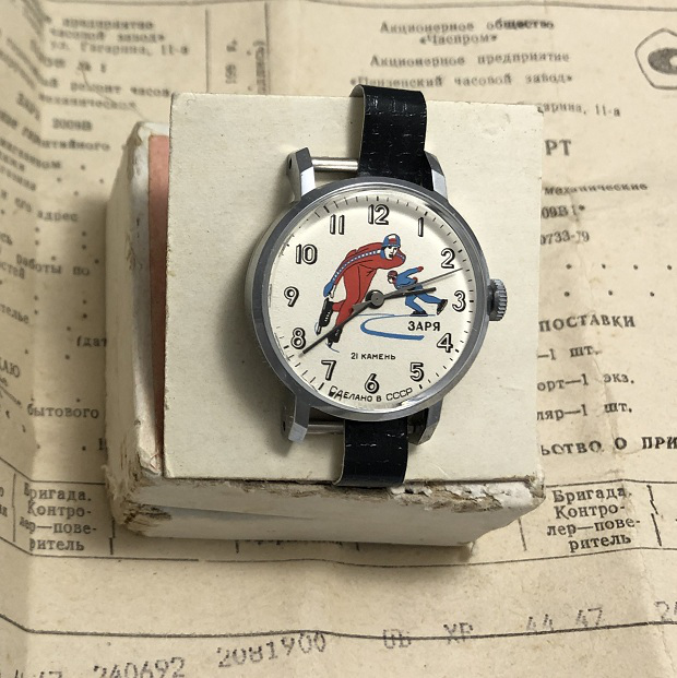 Мужские наручные часы Заря конькобежцы