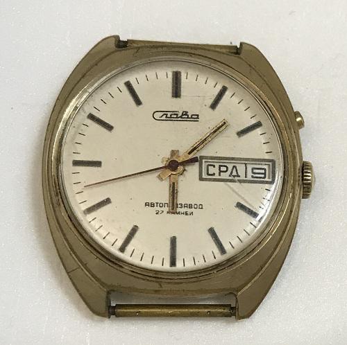 мужские часы Слава СССР черные с автоподзаводом