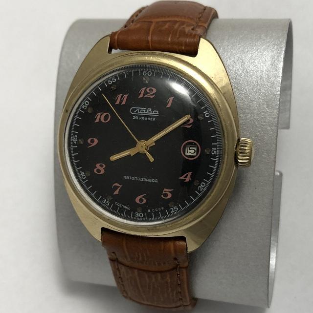 Мужские наручные часы Слава СССР автомат 27 камней позолота