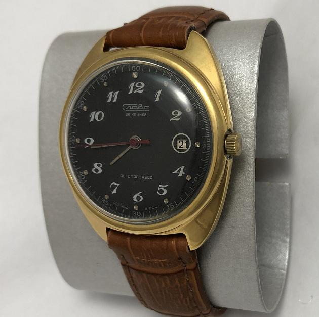 Наручные мужские часы Слава СССР 26 камней позолота AU