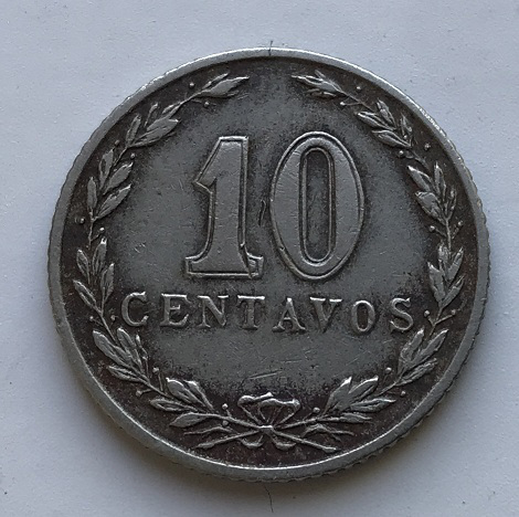 Монета 10 сентаво Аргентина