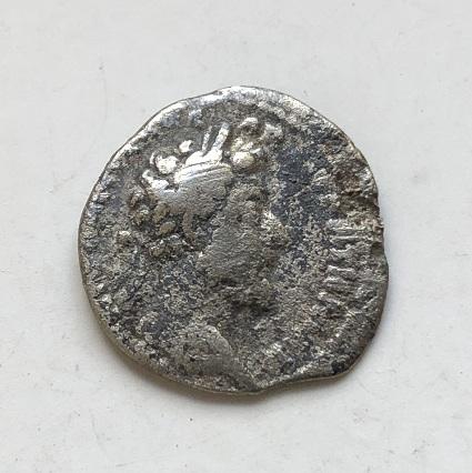 Монета денарий Древний Рим Марк Аврелий