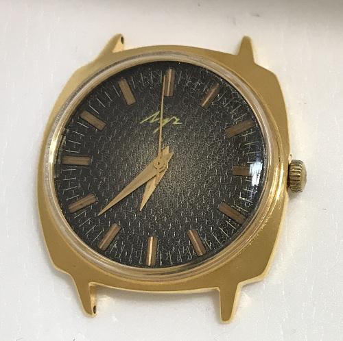 Карманные часы Молния СССР с кораблем