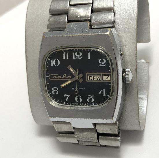 Наручные мужские часы Слава из СССР редкий вариант
