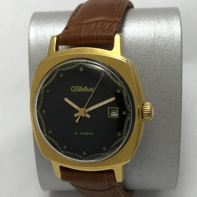 Мужские наручные часы Луч СССР 23 камня позолоченные