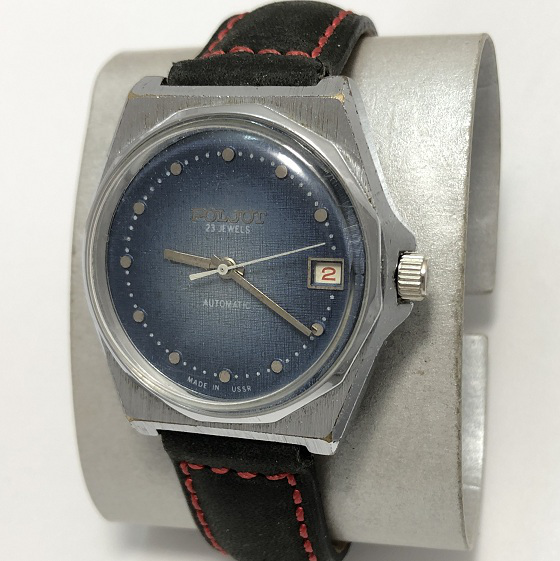 Мужские советские наручные часы Полет джинс автоподзавод