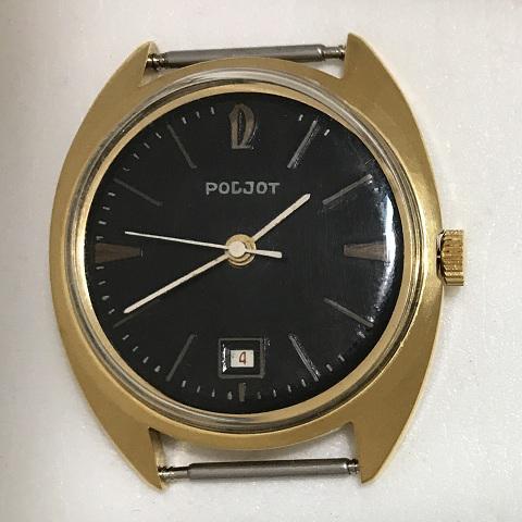 Мужские наручные часы Полет СССР позолоченные