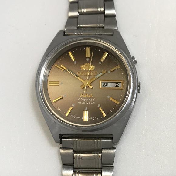 Мужские наручные Часы Orient механика коричневые
