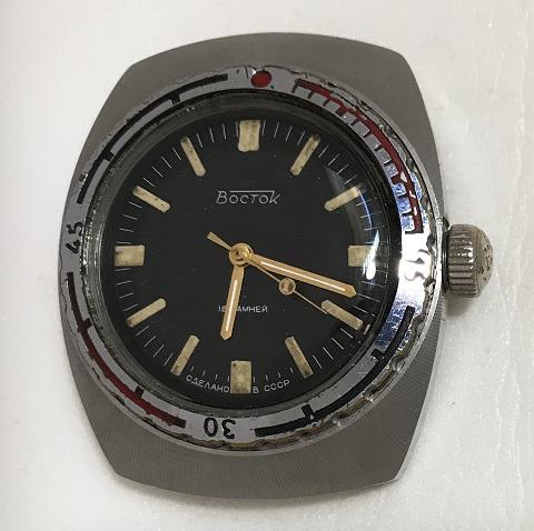 Наручные часы Амфибия СССР антимагнитные бочка