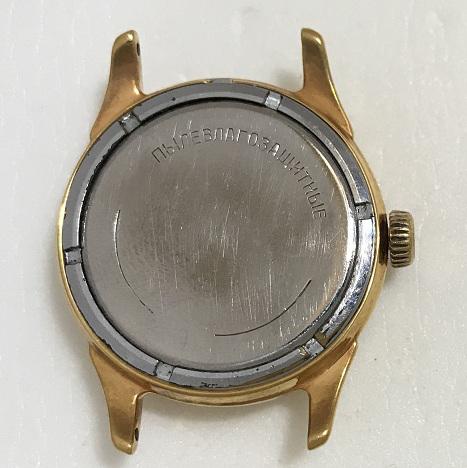 наручные часы Восток СССР зеленые позолоченные