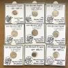 Комплект монет акче крымского хана Девлет Гирея 15 шт № 31