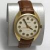 Мужские наручные часы Восток СССР позолоченные бежевый циферблат