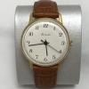Мужские наручные часы Ракета СССР позолоченные белые