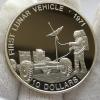 Монета 10 долларов Соломоновы Острова луноход серебро