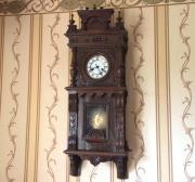 Старинные настенные часы Gustav Becker в оригинальном корпусе 1915 года