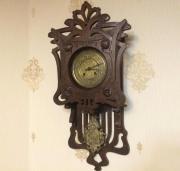 Настенные часы Густав Беккер старинные с боем и маятником