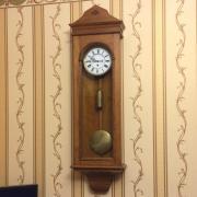 Старинные настенные часы большой австрийский регулятор одногиревый