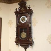 Старинные настенные часы немецкие - около 100 лет!
