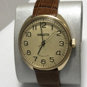 Мужские наручные часы Ракета СССР квадратный корпус позолоченные
