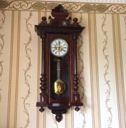 Большие старинные настенные часы E.R.Schlenker (Kienzle) начала 20 века