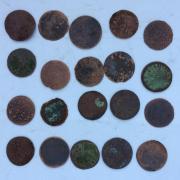 Комплект старых монеты средневековой Европы № 20 - 20 шт