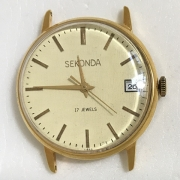 Мужские наручные часы Seconda СССР 21 камень позолота бордовые