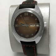 Мужские наручные часы Восток СССР 2414А позолоченные большие