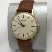 Мужские наручные часы Луч СССР 23 камня позолоченный корпус