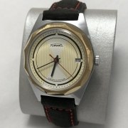Мужские наручные часы Ракета 2614 Н СССР в позолоте с календарем