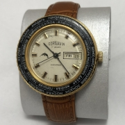 Мужские наручные часы Cornavin черные СССР позолоченные