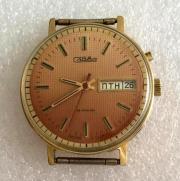 Наручные мужские часы Слава СССР позолоченные
