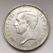 Монета 5 франков Бельгия серебро