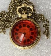 Женские часы кулон Чайка СССР позолоченные 17 камней