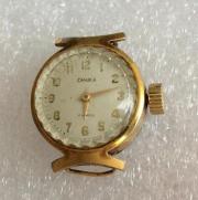 Женские наручные часы СССР Чайка позолоченные маленькие