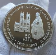 Серебряная монета Вануату