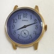 Наручные мужские часы Победа черные в позолоте
