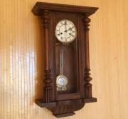 Старые настенные часы FMS Le Roi A Paris с боем и маятником - около 100 лет