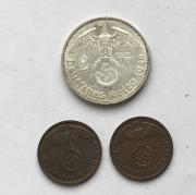 Комплект немецких монет 3 рейха № 40
