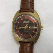 Мужские наручные часы Слава СССР автоподзавод позолоченные с браслетом