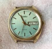 Часы наручные мужские Слава 26 камней позолоченые AU сделанные в СССР