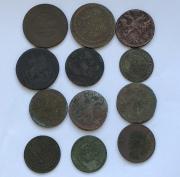 Комплект старых монеты царской России № 19 - 12 шт