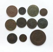 Комплект старинных монет царизм № 38 - 11 шт