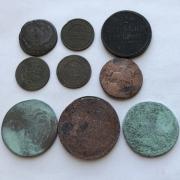 Старинные интересные монеты № 10 царской России - 9 шт