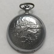 Карманные часы Молния СССР охота Олени