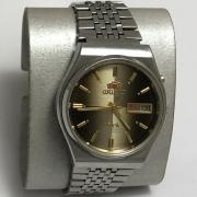 Мужские наручные часы Слава СССР с браслетом бордовые в позолоте